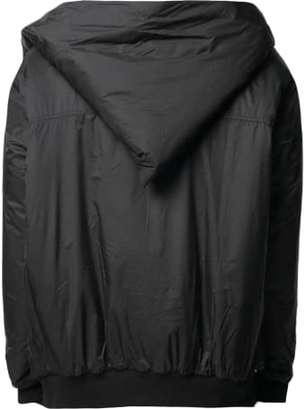 DRKSHDW Black Cotton Bomber Jacket