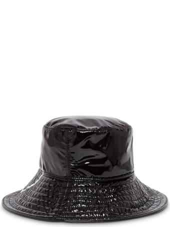 Valentino Garavani Patent Leather Hat With Logo
