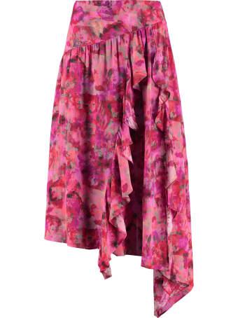 IRO Asymmetric Printed Skirt