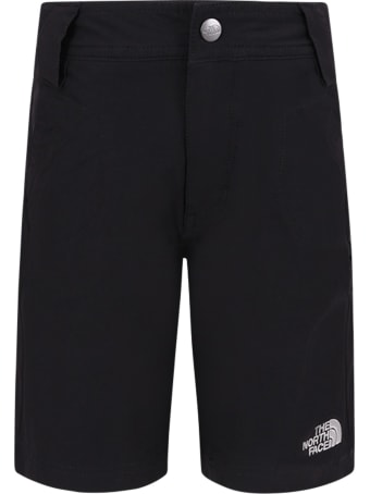 The North Face Black Boy Short With Grey Logo