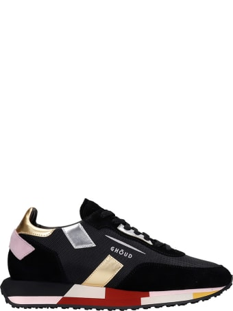 GHOUD Rush Sneakers In Black Suede And Fabric