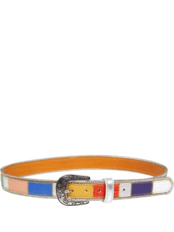 Nanni Multicolor Leather Belt