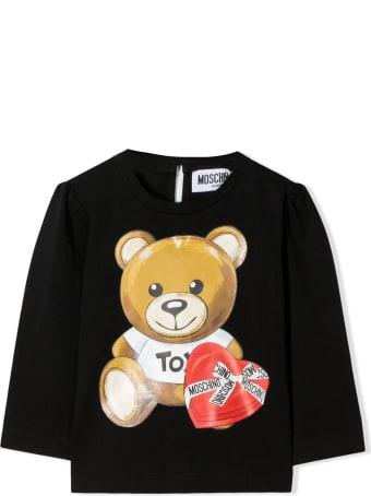 Moschino Black Stretch-cotton T-shirt