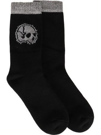 Alexander McQueen Black Cotton Skull Socks