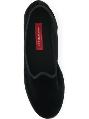 Vibi Venezia Furlane Velvet Slippers