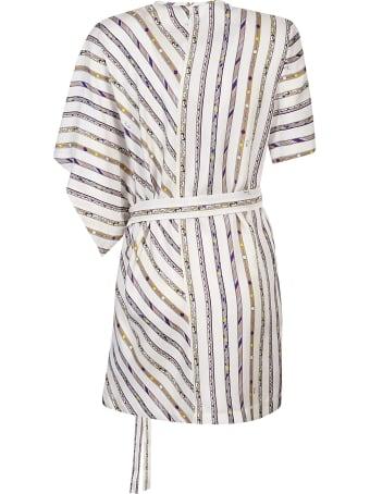 Emilio Pucci Belted Striped Dress