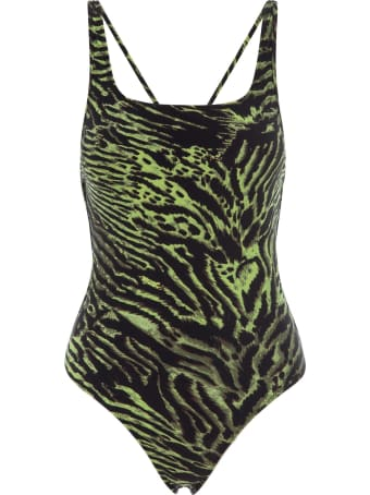 Ganni Tiger Print Swimwear String Swimsuit