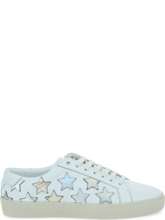 Saint Laurent Sl/06 Star Smooth Leather Sneakers