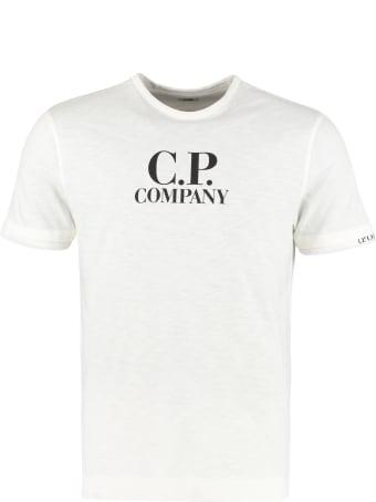 C.P. Company Logo Print Cotton T-shirt