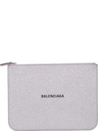 Balenciaga Baleniaga Silver Everyday Pouch M