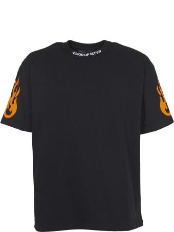 Vision of Super Orange Flames T-shirts