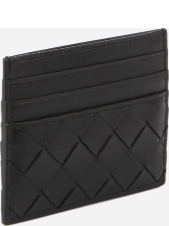 Bottega Veneta Card Holder In Woven Leather