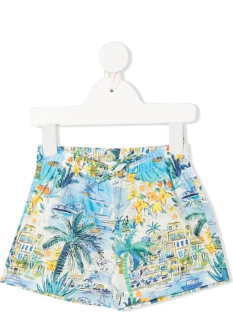 Il Gufo Floral Jersey Shorts