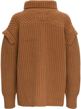 Loulou Studio Jumper With Funnel Neck And Dropped Shoulders