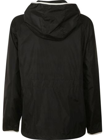 Moncler Sleeve Patch Logo Zipped Windbreaker