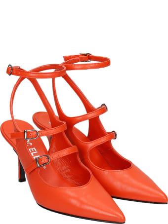 Marc Ellis Pumps In Orange Leather