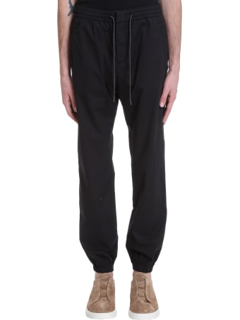 Z Zegna Pants In Black Cotton