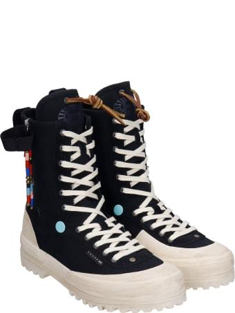 Superga Sneakers In Black Canvas