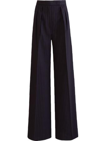 Max Mara Wool Canvas Trousers