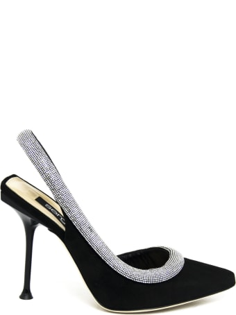 Sergio Rossi Black Leather Sandals