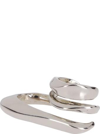 Alexander McQueen Silver-tone Steel Ring