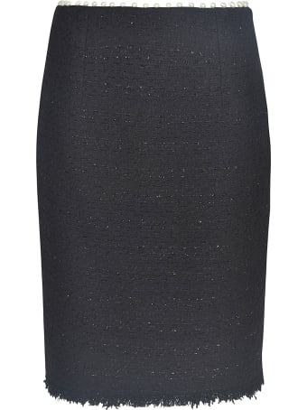 Giambattista Valli Pearl Embellished Pencil Skirt