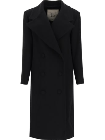 L'Autre Chose Double-breasted Wool Crepe Coat