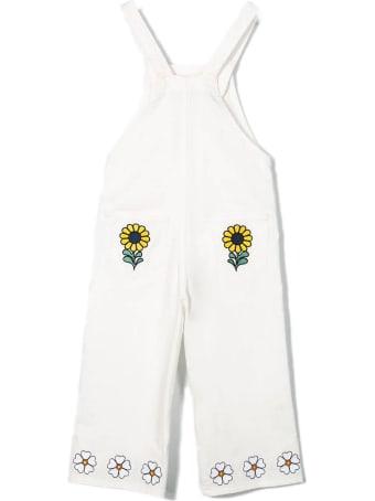 Stella McCartney White Stretch Cotton Dungarees