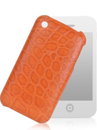 Fedon 1919 Giorgio Fedon 1919 Croco-stamped Leather Iphone 3 Case