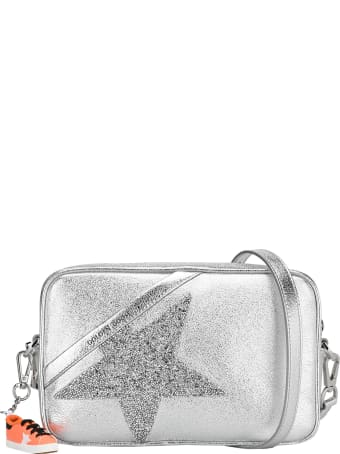 Golden Goose Silver Star Bag Made Of Laminated Leather With Swarovski Star