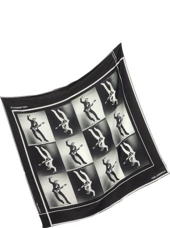 Karl Lagerfeld Karl Legend Guitar Puzzle Silk Square Scarf