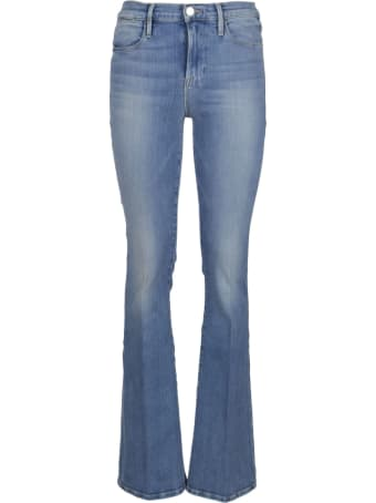 Frame Blue Cotton Le High Flare Jeans
