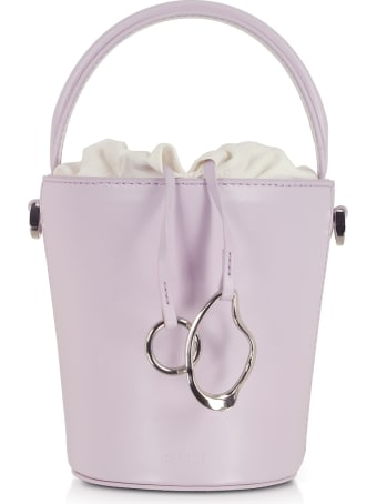 Cafuné Lilac Leather Mini Bucket Bag