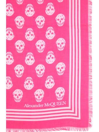 Alexander McQueen Scarf With Biker Skull Print