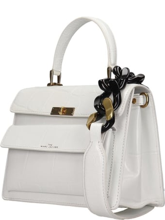 Marc Jacobs The Uptown Shoulder Bag In White Leather