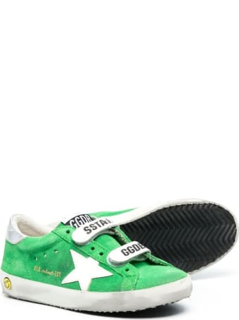 Golden Goose Green Sneakers With Tears