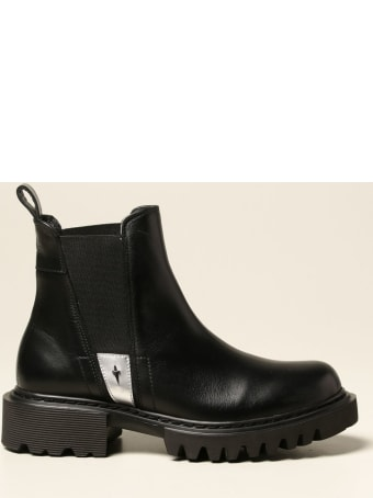 Paciotti 4US Flat Booties Paciotti 4us Chelsea Boots In Calfskin