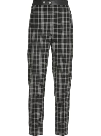 Neil Barrett Checked Pattern Trousers