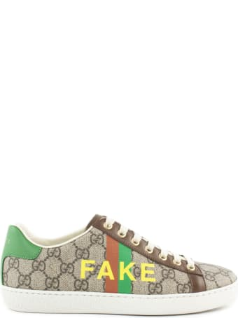 Gucci Fake/not' Print Ace Sneaker