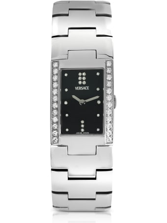 Versace Greca - Ladies' Stainless Steel And Diamond Watch