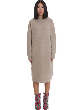 La Ploubel Dress In Beige Suede