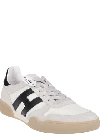 Hogan White Leather And Suede H357 Sneakers