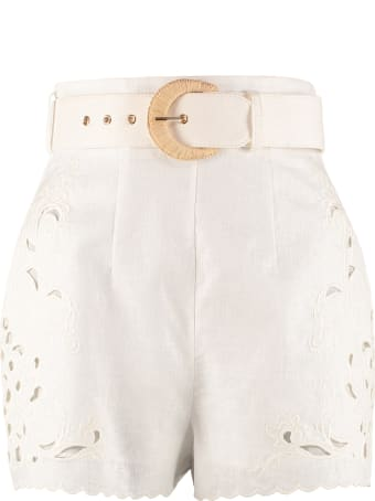 Zimmermann Peggy High Waist Shorts