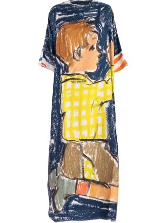 Daniela Gregis Dress L/s Boat Neck W/print