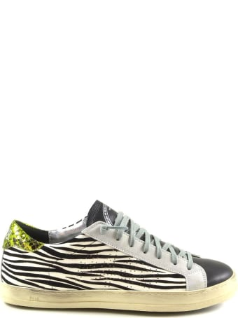 P448 Zebra Print Color Block Women's Sneakers