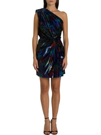 Dsquared2 Velvet One-shoulder Minidress