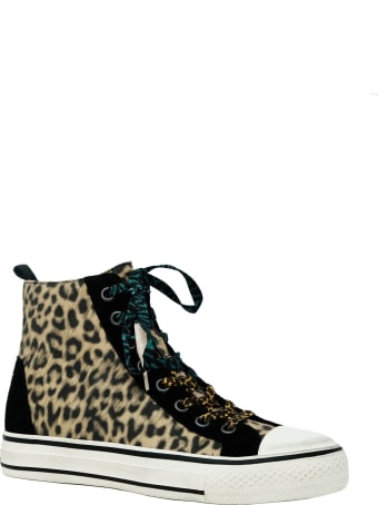 Ash Multicolor Leather Genial Punk Cheeta Sneakers