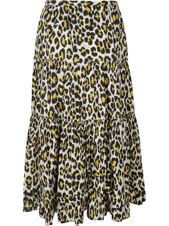 Marc Jacobs Flared Printed Skirt