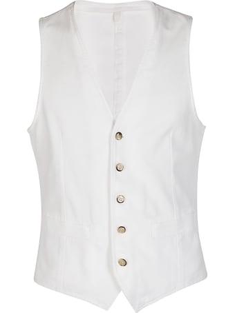 L.B.M. 1911 White Cotton Panciotto Gilet