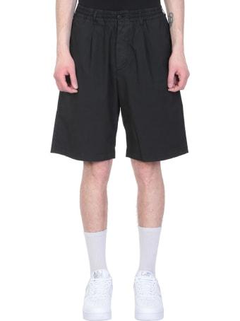 Danilo Paura Black Cotton Shorts